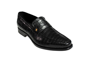 Stefano Ricci Genuine Crocodile Loafer Shoes 8 (EU 7) Hand-made in Italy