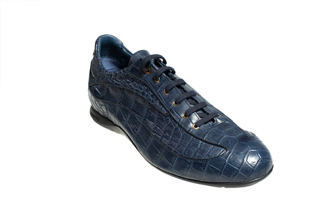Stefano Ricci Genuine Crocodile Sneakers Shoes 12 (EU 11.5) Hand-made in Italy