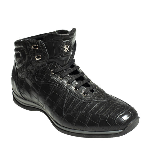 Stefano Ricci Genuine Crocodile Sneakers Boot Shoes 12 (EU 11) Hand-made in Italy
