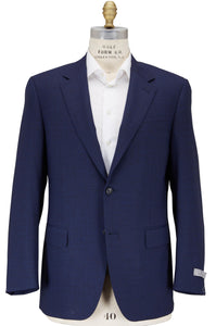 CANALI 1934 Navy Blue Two-Button Wool Suit 48 (EU 60) Tailored in Italy