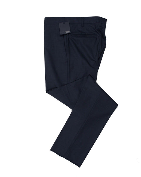 INCOTEX Superfine Wool Blue Dress Pants ~ European Fit