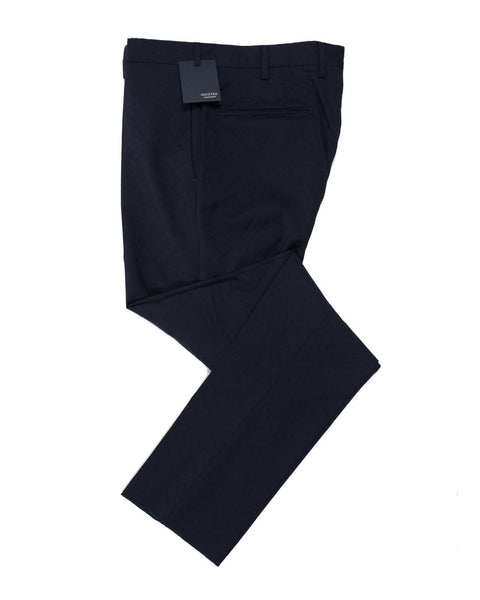 INCOTEX Superfine Wool Navy Blue Fancy Dress Pants ~ European Fit