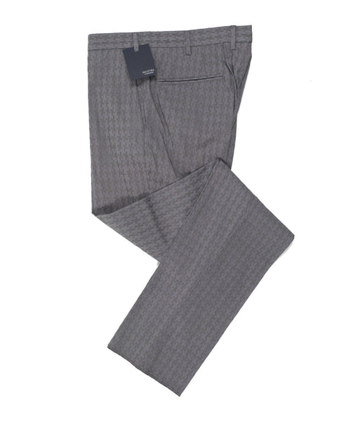 INCOTEX Fancy Gray Cotton Pants  ~ European Fit