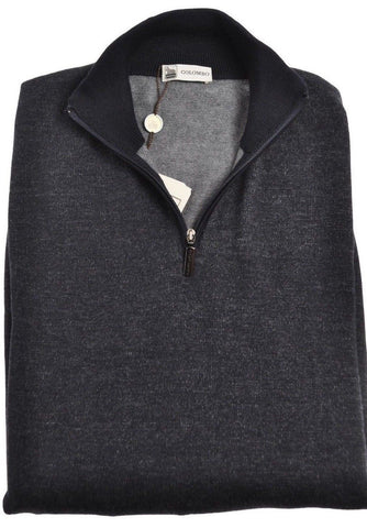 COLOMBO Grade-A Cashmere Blend 1/2 Zip Sweater ~ Made in Italy