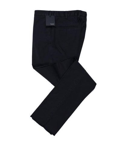 INCOTEX Navy Blue Cotton Chinos Pants  ~ European Fit