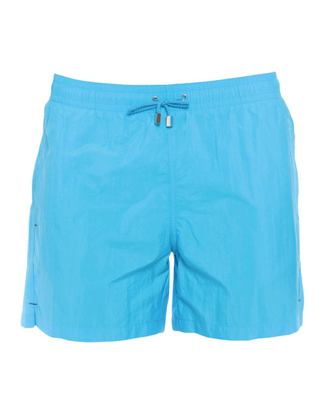 RODA at the beach blue swim shorts