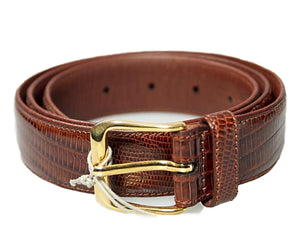 Brioni Genuine Tejus Brown Belt 32 (EU 85) Made in Italy