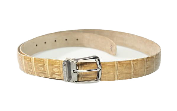 Brioni Genuine Crocodile Tan Belt 44 (EU 115) Made in Italy
