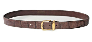 Brioni Genuine Crocodile Dark Brown Belt 36 (EU 90) Made in Italy