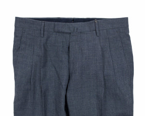 BOGLIOLI Chambray Blue Slim-Fit Linen & Wool Pants 28 (EU 44) Made in Italy