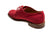 Silvano Lattanzi Red Linen Shoes 10 (EUR 9) Hand-made in Italy