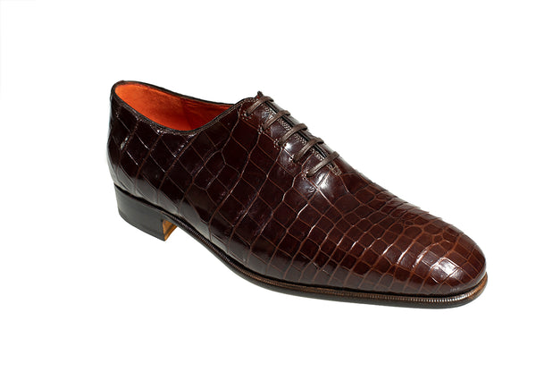 Stefano Ricci Genuine Crocodile Wholecut Oxford Shoes 11 (EU 10) Hand-made in Italy