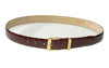 Brioni Genuine Crocodile Brown Belt 34 (EU 90) Made in Italy