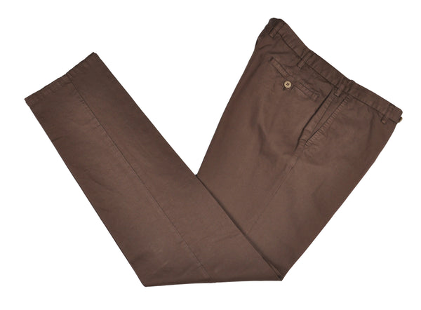 Rota Sport Brown Cotton & Linen Pants ~ Handmade in Italy