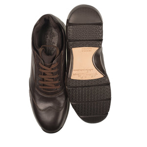 Silvano Lattanzi Leather Sneakers 9 (EUR 8) Hand-made in Italy