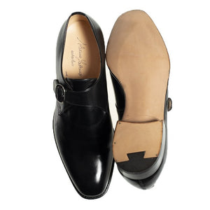 Silvano Lattanzi Black Leather Shoes 11 Hand-made in Italy