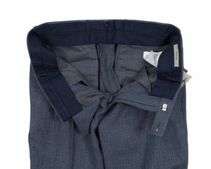 BOGLIOLI Chambray Blue Slim-Fit Linen & Wool Pants  ~ Made in Italy