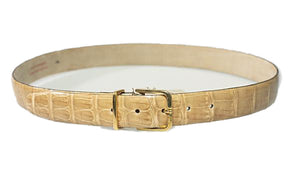 Brioni Genuine Crocodile Tan Belt 36 (EU 90) Made in Italy