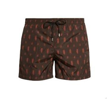 BOGLIOLI Brown Printed Swim Shorts ~ Made in Italy