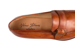 Silvano Lattanzi Leather Loafer Shoes 9.5 (EUR 8.5) Hand-made in Italy