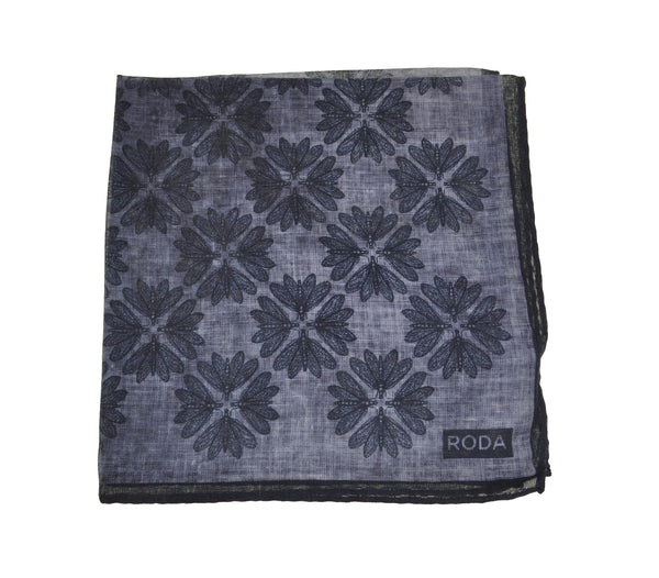 RODA Printed Cotton Pocket Square Pochette ~ Made in Italy