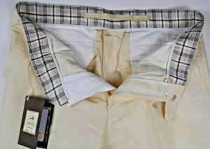 Schiatti & C. Ivory Linen & Silk Dress Pants ~ Tailored in Italy