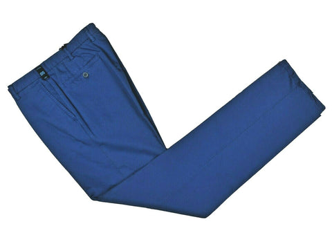 Rota Sport Royal Blue Cotton & Linen Pants ~ Handmade in Italy