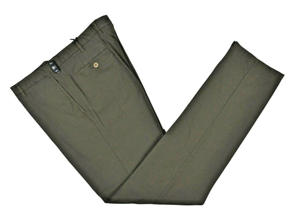 Rota Sport Patterned Green Cotton Pants ~ Handmade in Italy
