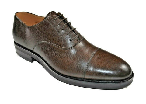 Heschung Tilleul Cap-Toe Brown Leather Shoes 11.5 (EU 11) Goodyear Construction