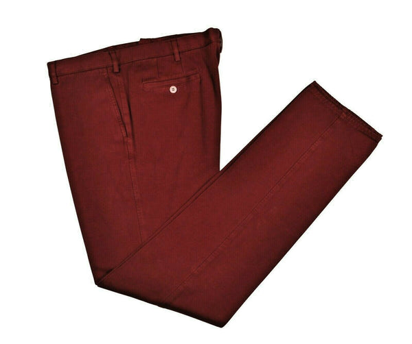 Rota Sport Burgundy Winter Cotton Pants ~ Handmade in Italy