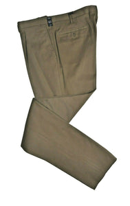 Rota Sartorial Khaki Brushed Cotton Pants ~ Handmade in Italy