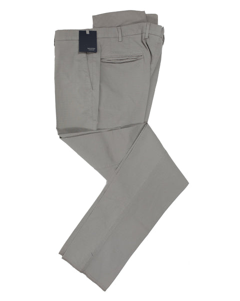 INCOTEX Gray Diamond Pattern Cotton Pants  ~ European Fit