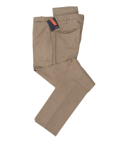 INCOTEX Fancy Beige Cotton Pants  32 (EU 48) European Fit