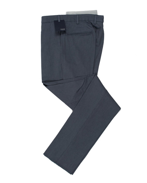 INCOTEX Blue Nailhead Cotton Dress Pants  ~ European Fit
