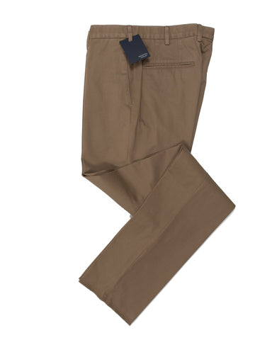 INCOTEX Tobacco Cotton Chinos Pants  38 (EU 56) European Fit