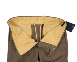 INCOTEX Tobacco Cotton Chinos Pants  ~ European Fit