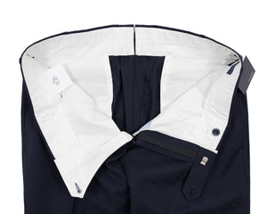 INCOTEX Superfine Wool Fancy Navy Blue Dress Pants ~ European Fit