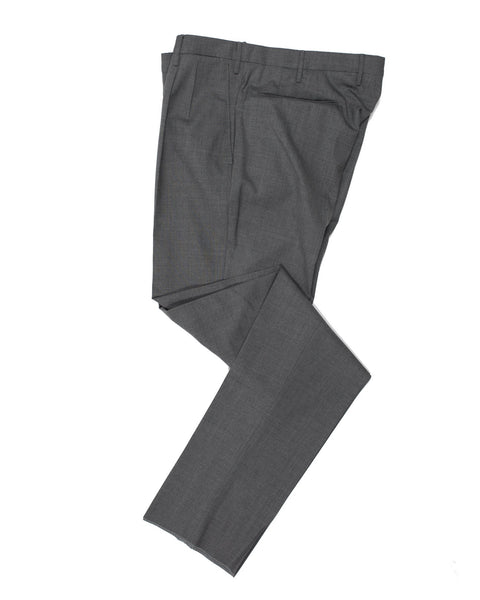 INCOTEX Super 130's Wool Gray Dress Pants ~ European Fit