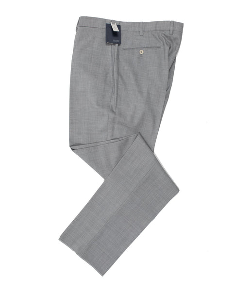 INCOTEX Super 100's Wool Light Gray Dress Pants ~ European Classic Fit