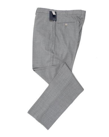 INCOTEX Super 100's Wool Light Gray Dress Pants 38 (EU 56) European Classic Fit