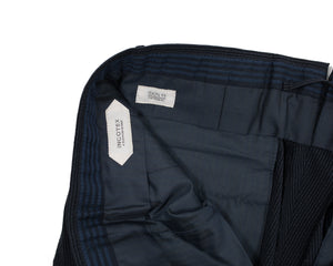 INCOTEX Navy Blue Silksucker Pants ~ Skin Fit