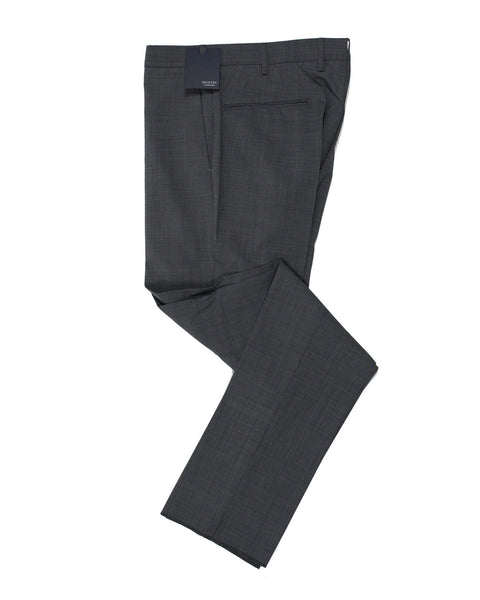 INCOTEX Superfine Wool Blend Gray with Blue Hue Dress Pants ~ European Fit
