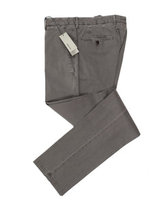 BOGLIOLI Taupe Slim-Fit Stretch Cotton Pants ~ Made in Italy