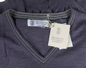 BRUNELLO CUCINELLI Wool & Cashmere Purple Sweater XL (56) Made in Italy