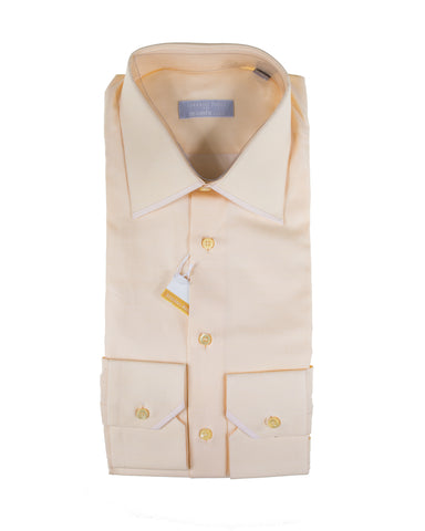 STEFANO RICCI Superfine Cotton Dress Shirt 15.75 (40) Handmade in Italy