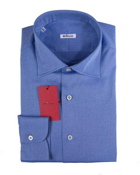 Kiton Napoli Superfine Cotton Modern Fit Dress Shirt 17 (EU 43) Handmade in Italy