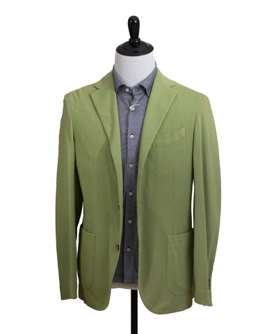 BOGLIOLI COAT Tiller Green Cotton Sportcoat 38 (EU 48) Made in Italy