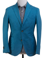 BOGLIOLI K. Jacket Dyed Blue Cotton~Linen Sportcoat 36 (EU 46) Made in Italy