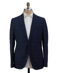 BOGLIOLI COAT Navy Blue Triblend Sportcoat 42 (EU 52) Made in Italy