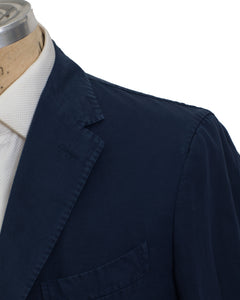 BOGLIOLI COAT Dyed Navy Blue Cotton~Linen Sportcoat ~ Made in Italy